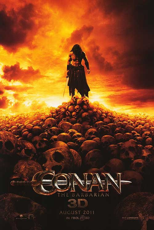 Conan the Barbarian Advance Version A  Original Movie Poster  Double Sided 27 X40