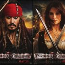 Pirates of the Caribbean 4: On Stranger Tides Ver B Original Movie Poster Double Sided 18x27