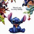 Lilo & Stitch  ( Blue ) Original Movie Poster Double Sided 27x40