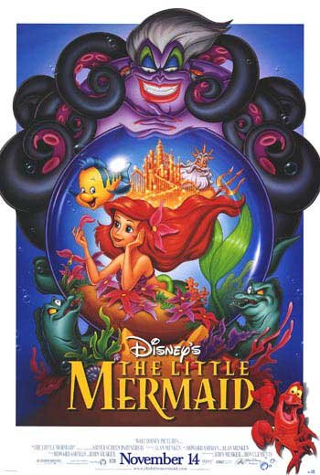 Little Mermaid Regular Original Movie Poster Double Sided 27x40