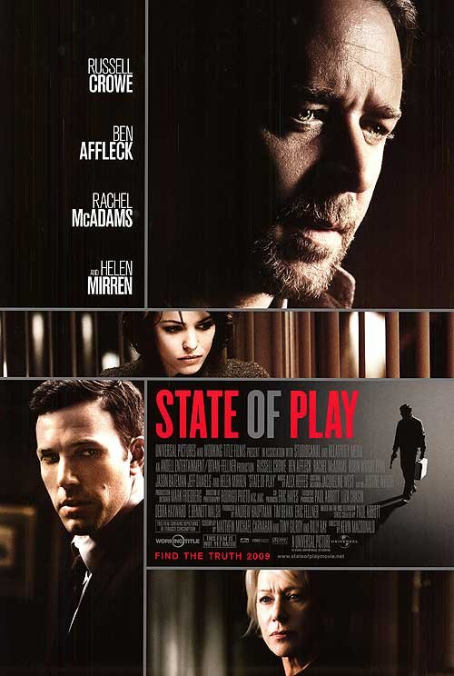 State Of Play Original Movie Poster Single Sided 27 X40