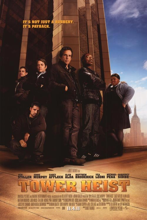 Tower Heist Original Movie Poster Double Sided 27 X40