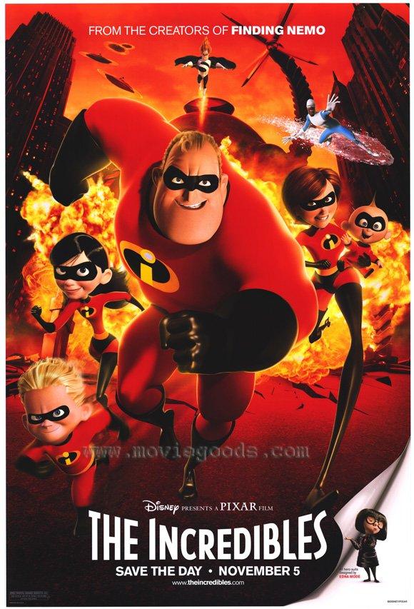 Incredibles Regular Original Movie Poster Single Sided 27x40