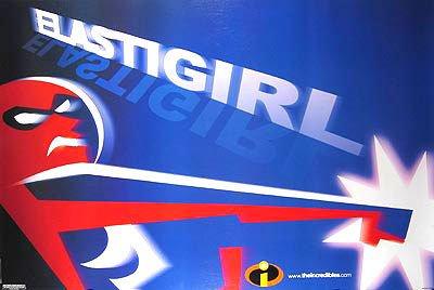 Incredibles ( Elastic Girl )  Original Movie Poster Single Sided 18X24
