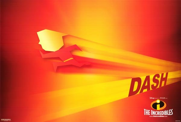 Incredibles ( Dash )  Original Movie Poster Single Sided 18X24