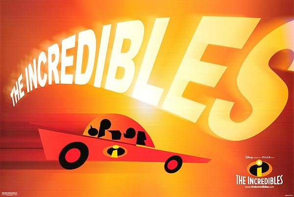 Incredibles ( Car )  Original Movie Poster Single Sided 18X24