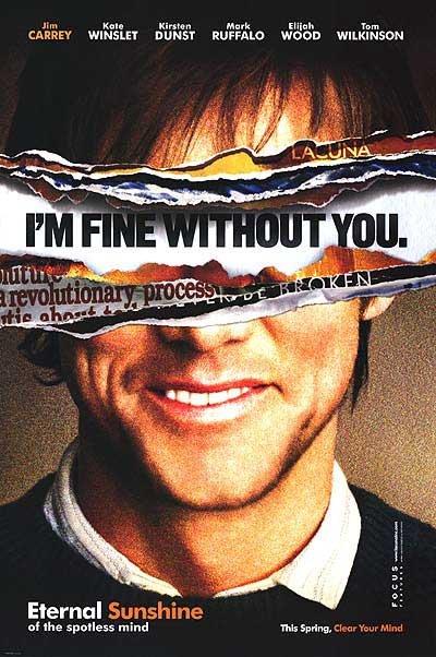 Eternal Sunshine Jim Carrey Original Movie Poster Single Sided 27x40