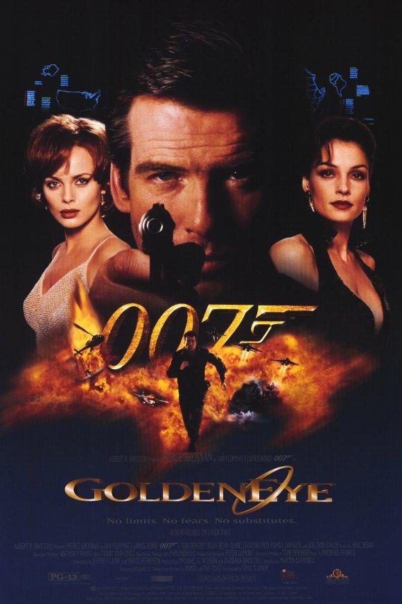 Golden Eye Dvd/Video Poster Original Movie Poster Single Sided 27x40