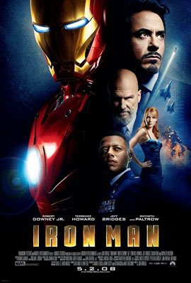 Iron Man  Regular Original Movie Poster Double Sided 27x40