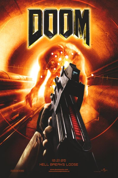 DOOM MOVIE Poster SINGLE SIDED ORIG 27 X40
