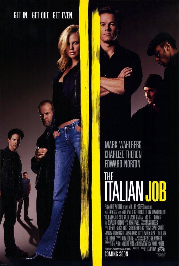 Italian Job Original Movie Poster Double Sided 27x40