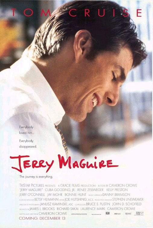 Jerry Maguire Original Movie Poster Double Sided 27 X40
