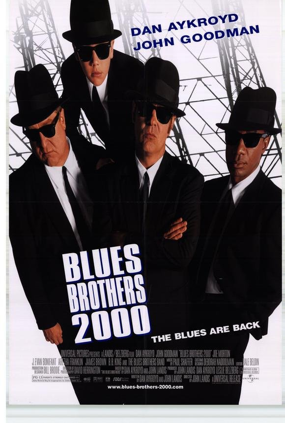Blues Brothers 2000 Original Movie Poster Double Sided 27 X40