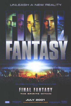 Final Fantasy Original Movie Poster Double Sided 27 X40