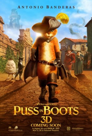 Puss in Boots Advance C Original Movie Poster Double Sided 27 X40