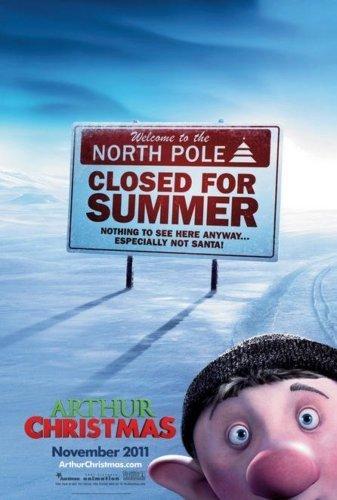 Arthur Christmas Advance Original Movie Poster Double Sided 27x40