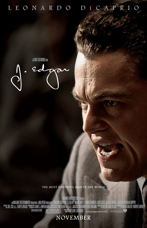 J. Edgar Ver B Original Movie Poster Double Sided 27 x40