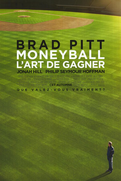 Moneyball Advance French  Original Movie Poster Double Sided 27x40