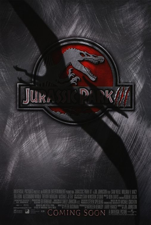 Jurassic Park III Regular Original Movie Poster Double Sided 27x40