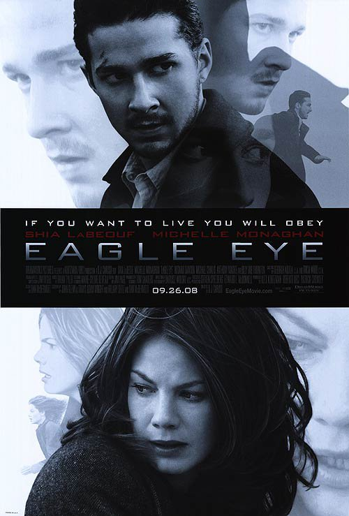 Eagle Eye Original Movie Poster Singe Sided 27x40