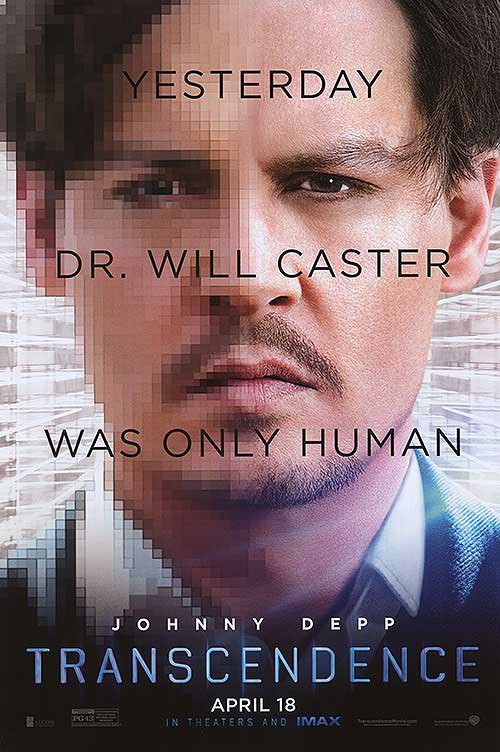 Transcendence Original Movie Poster Double Sided 27x40