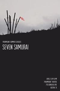Seven Samurai  Style I Movie Poster 13x19 inches