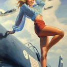 Pin Up Girl World War II Poster 13x19 inches
