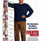 Cheaper by the Dozen Double Sided Orig Movie Poster 27x40 inches