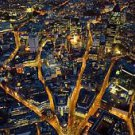 London Aerial View During Night Time  Style A Movie Poster 13x19 inches