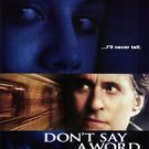 Don't Say A Word Double Sided Original Movie Posters 27x40 inches