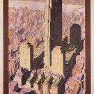1936 Rockefeller Center New York Travel poster 13x19 inches