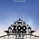 """Zookeeper Advance Two Sided 27""""x40' inches Original Movie Poster"""