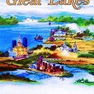 Vintage NEW YORK Great Lakes Advertisement poster 13x19 inches
