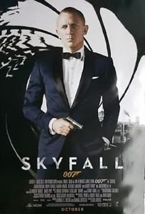 """Skyfall October Regularl Two Sided 27""""x40' inches Original Movie Poster J.Bond"""