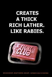 Fight Club (Creates) Movie Poster  13x19 inches