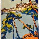 1925 MENTON Paris Lyon MediterraneeTravel poster 13x19 inches