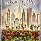 Vintage NEW YORK United Travel Advertisement poster 13x19 inches