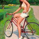 Girl on a Bicycle Elvgren Poster 13x19 inches