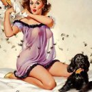 Ticklish Situation - 1957  Elvgren Style A Poster 13x19 inches