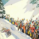 1930C Winter Sport Art poster 13x19 inches