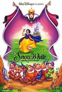 SNOW WHITE AND THE SEVEN DWARFS MOVIE POSTER ORIGINAL DOUBLE SIDED 27X40 inches