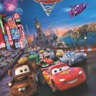 Cars 2 Advance Save the World Double Sided Original Movie Poster 27x40 inches