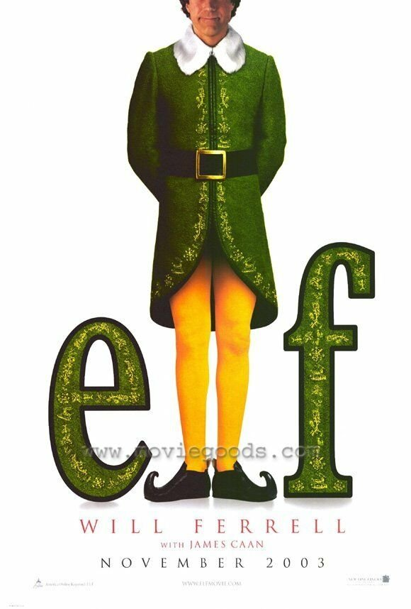 Elf Adavnce Double Sided Original Movie Poster 27x40  inches
