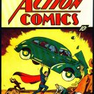 Superman First Comic Action Comics No 1 Poster  13x19 inches