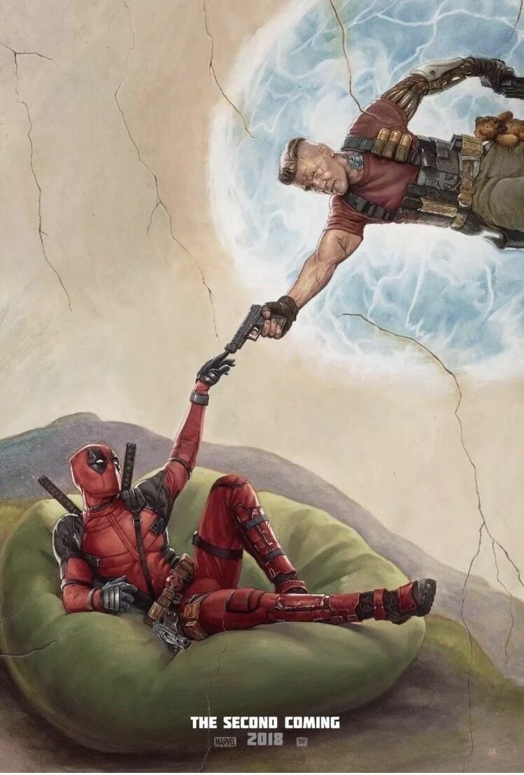 Deadpool 2   A  Double Sided Original Movie Poster 27x40 inches