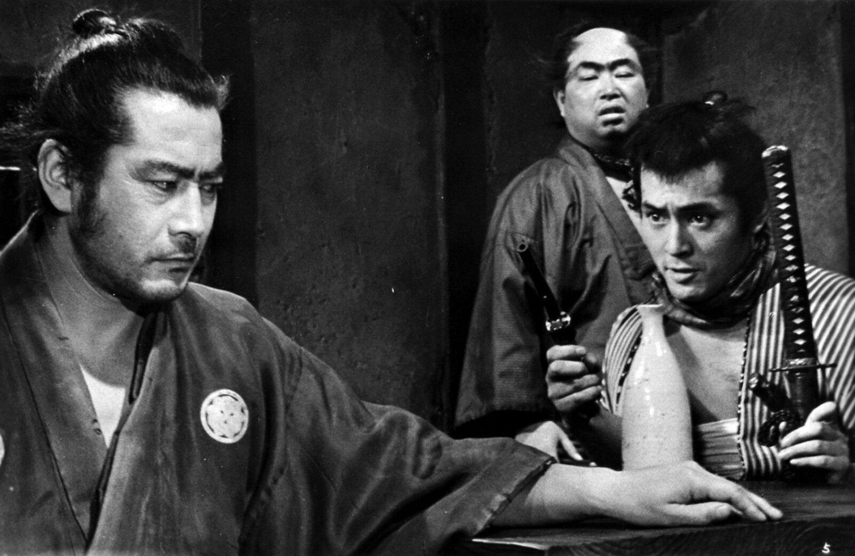 Akira Kurosawa and Toshiro Mifune on the set of �Yôjinbô Movie Poste13x19 inches