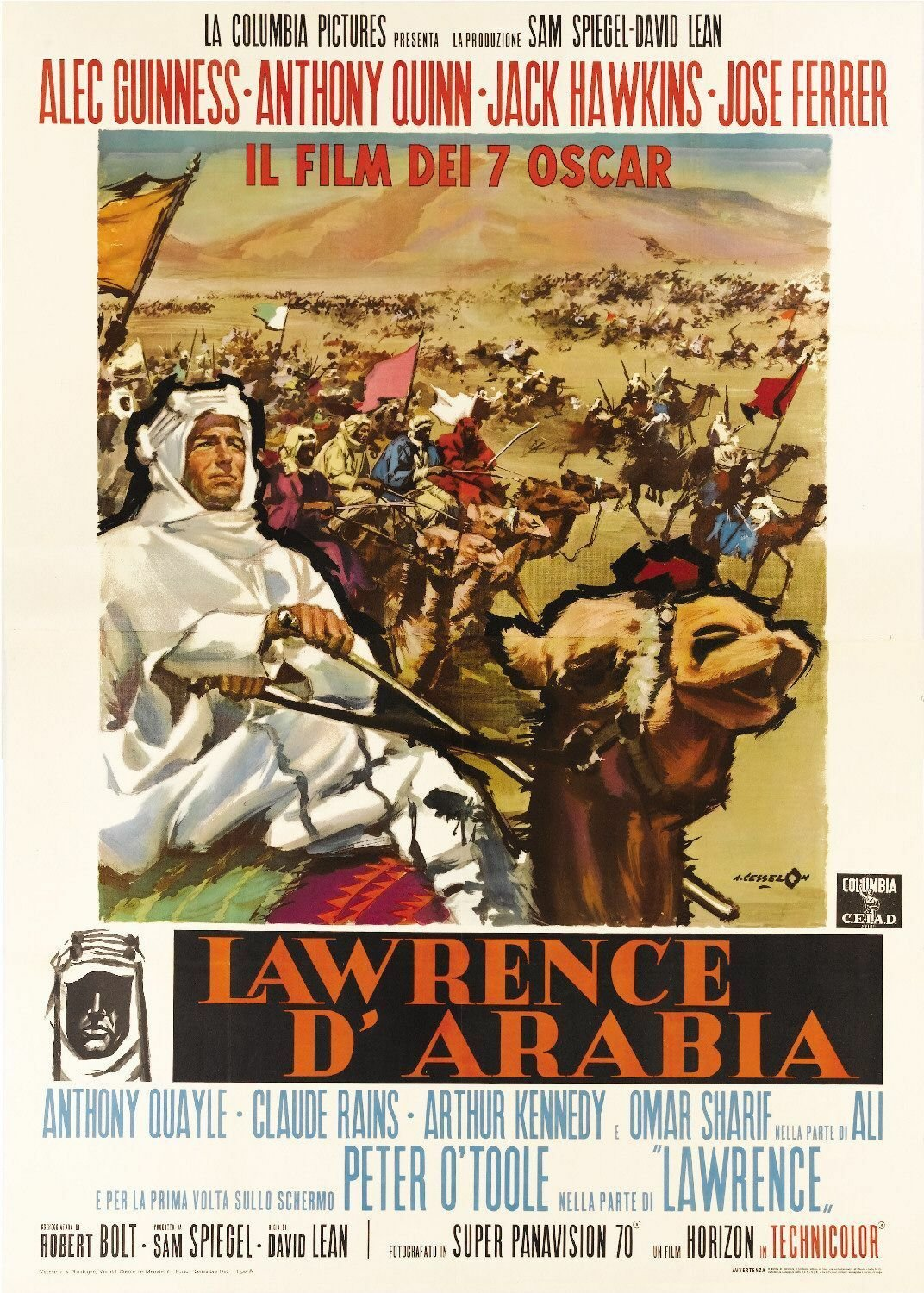 Lawrence of Arabia Movie Poster  Style B 13x19