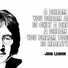 John Lennon Quote Poster Version P  13x19