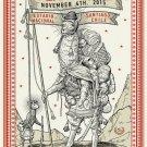 Pearl Jam 2015 Ravi Zupa Santiago Chile Poster 13x19