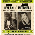 Bob Dylan with Joni Mitchell Concert Poster 13x19 inches